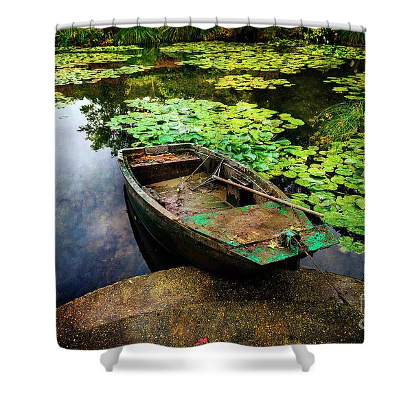 Monet's Gardeners Boat Shower Curtain
