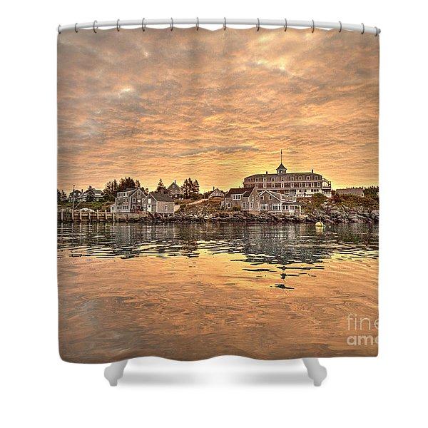 Monhegan Sunrise - Harbor View Shower Curtain