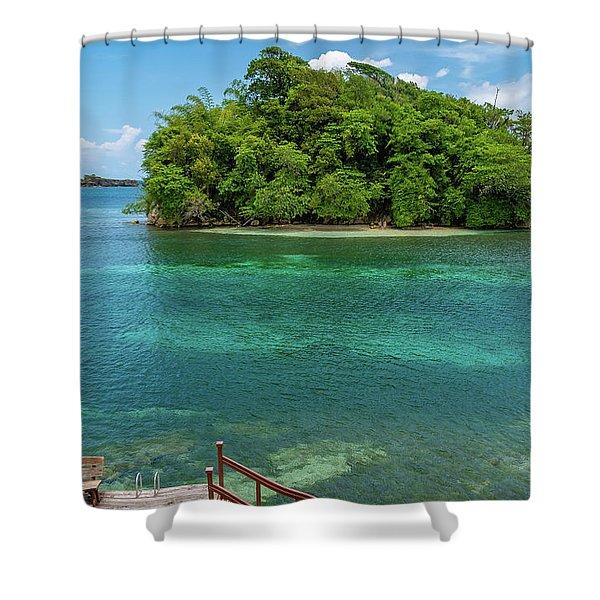 Monkey Island In Portland Jamaica Shower Curtain