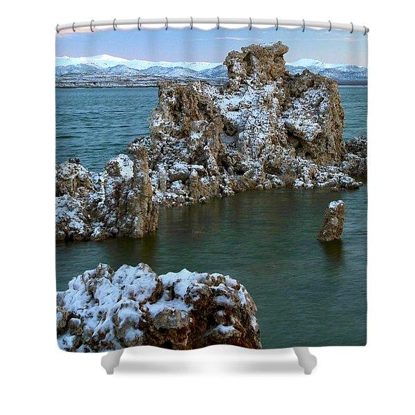 Mono Lake Tufa Towers Sunrise Shower Curtain