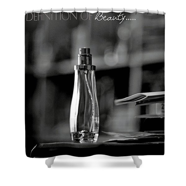 Monochrome Definition Of Beauty Shower Curtain
