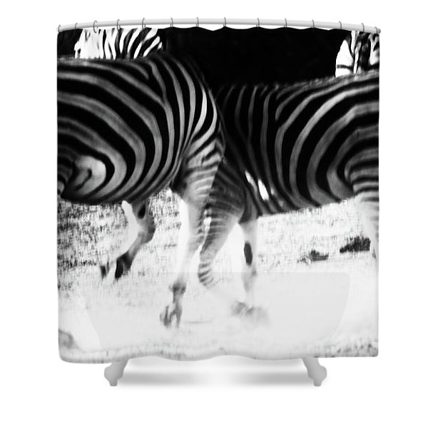 Monochrome Motion Shower Curtain