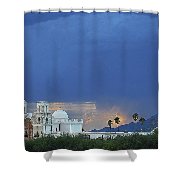 Monsoon Skies Over The Mission Shower Curtain