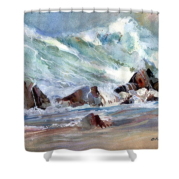 Monster Waves Shower Curtain