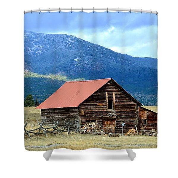 Montana Ranch Building Shower Curtain