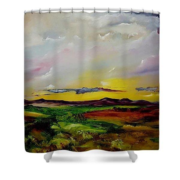 Montana Summer Storms        5519 Shower Curtain