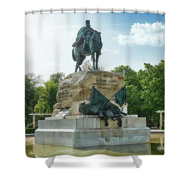 Monument To General Arsenio Martinez Campos In Madrid, Spain Shower Curtain