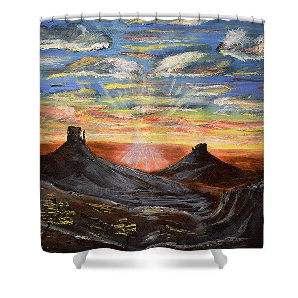 Monument Valley And Kokopelli Shower Curtain