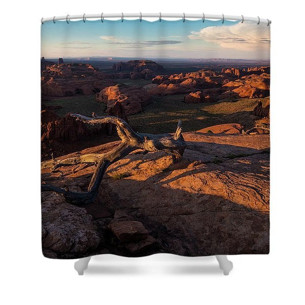 Monument Valley From Hunts Mesa Shower Curtain