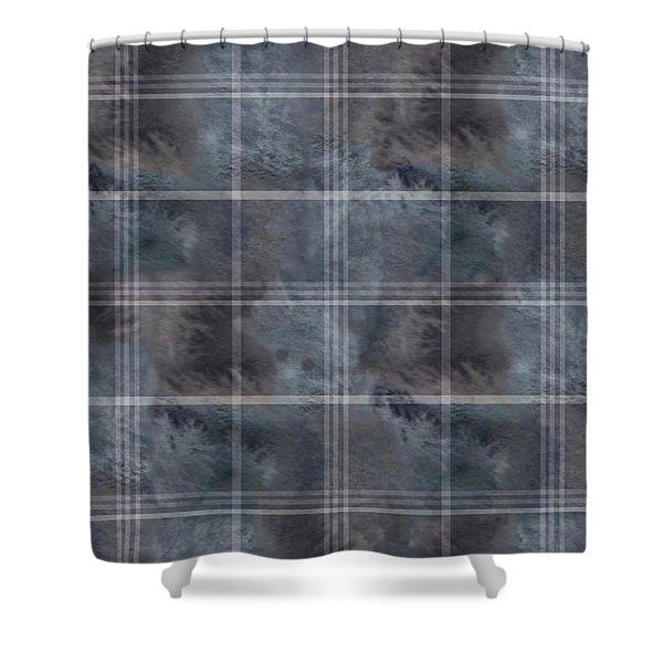 Moody Blue Plaid Shower Curtain
