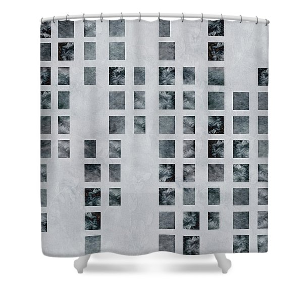 Moody Blues Data Pattern Shower Curtain