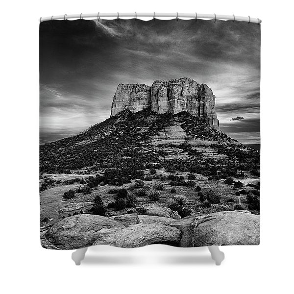 Moody Sunset At The Courthouse Shower Curtain