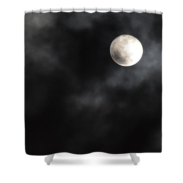Moon In The Still Of The Night Shower Curtain