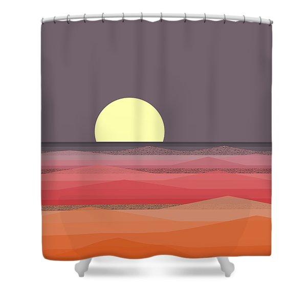 Moon Light At Sea Shower Curtain