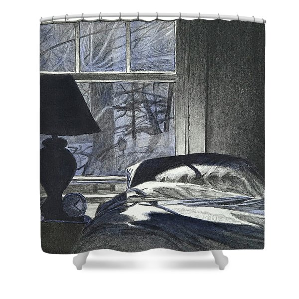 Moon Light On Our Bed Shower Curtain
