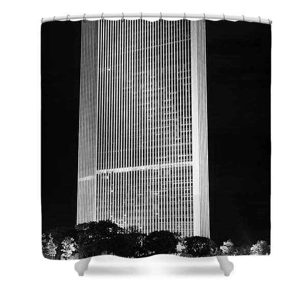 Moon Over Corning Shower Curtain