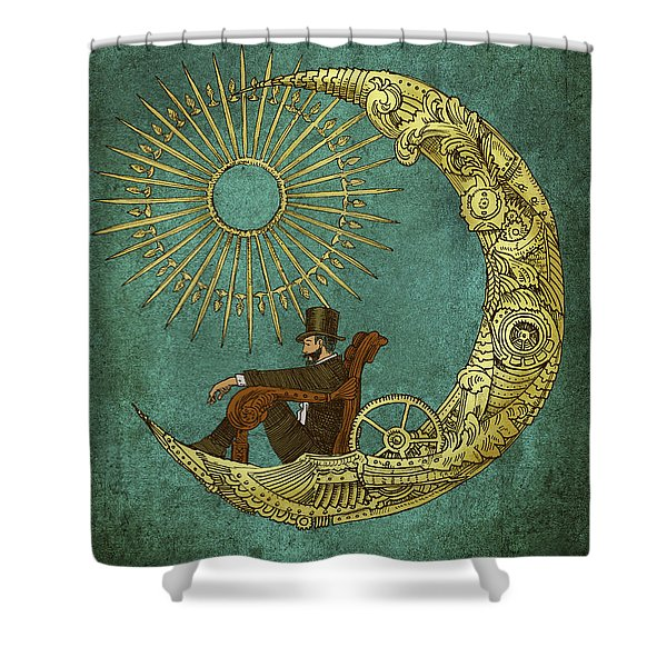 Moon Travel - Option Shower Curtain