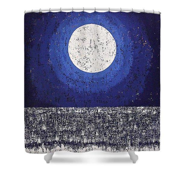 Moonbathing Original Painting Shower Curtain
