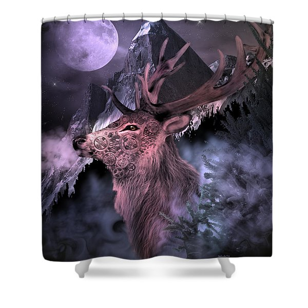 Moonlight Buck Shower Curtain