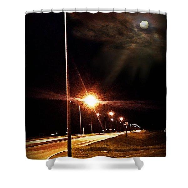 Moonlight Walk Shower Curtain