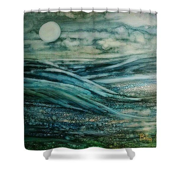 Moonlit Storm Shower Curtain