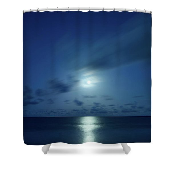 Moonrise Over The Sea Shower Curtain