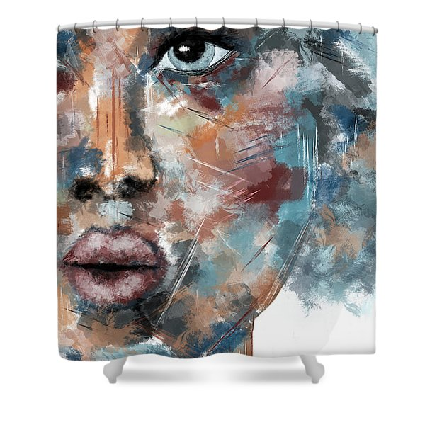 Moonshine-woman Abstract Art Shower Curtain