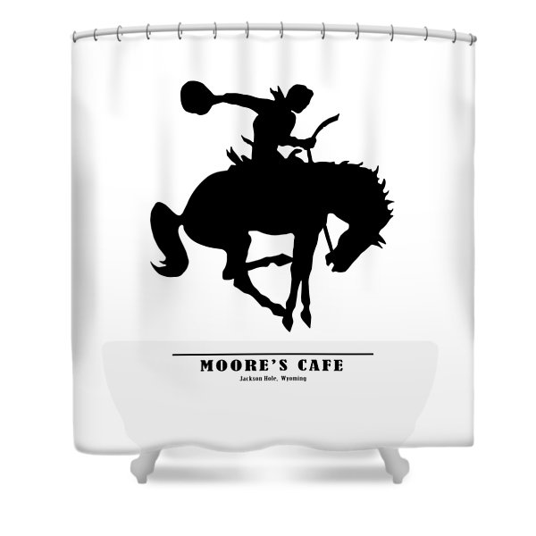 Moores Cafe Wyoming 1946 Shower Curtain