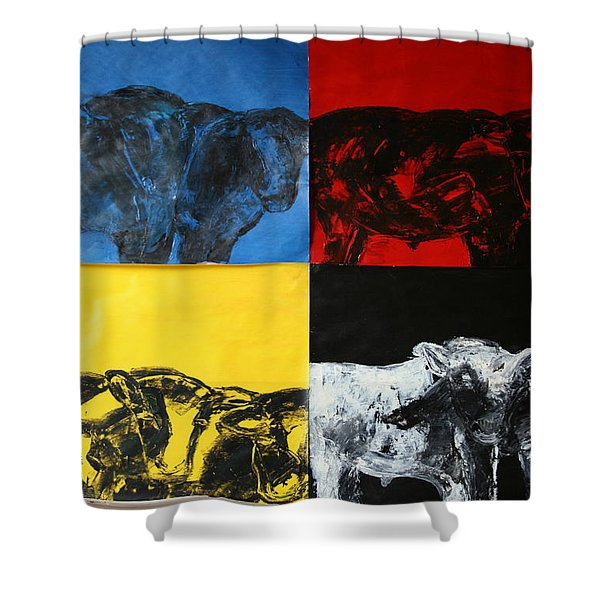 Mooving Out Of Our Land Shower Curtain