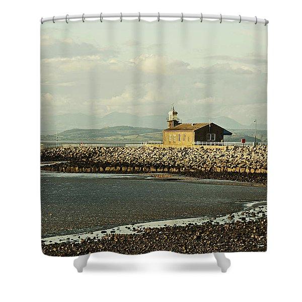 Morecambe. The Stone Jetty. Shower Curtain