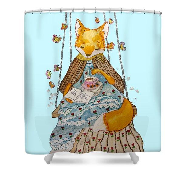 Morgan's Fox Shower Curtain