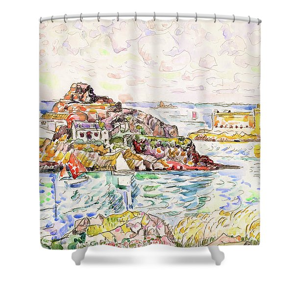 Morlaix, Entrance Of The River - Digital Remastered Edition Shower Curtain