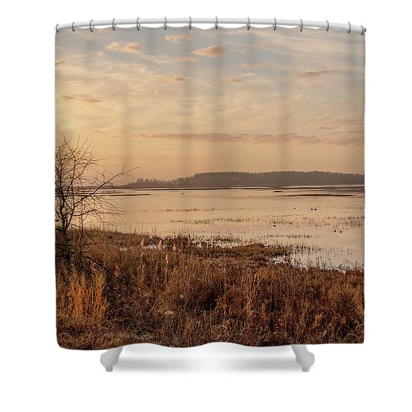 Morning At Boombay Hook Shower Curtain