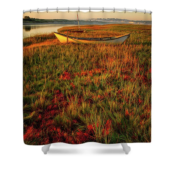 Shower Curtain featuring the photograph Morning Dory by Jeff Sinon