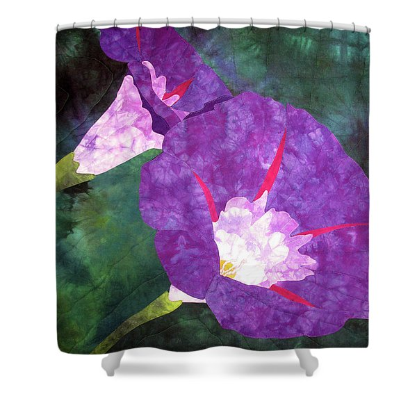 Morning Glories For Georgia Shower Curtain