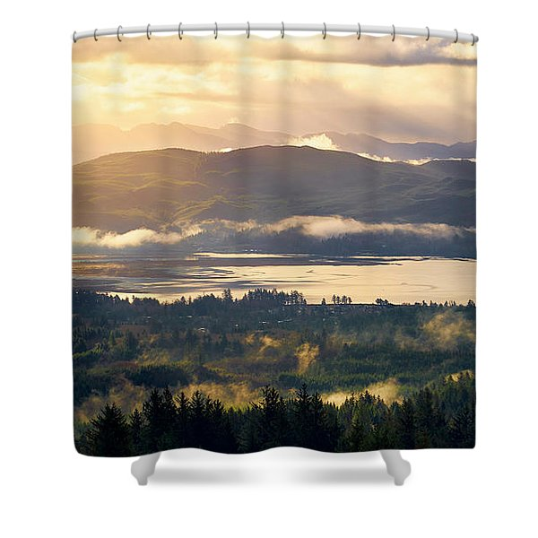 Shower Curtain featuring the photograph Morning Glory by Whitney Goodey