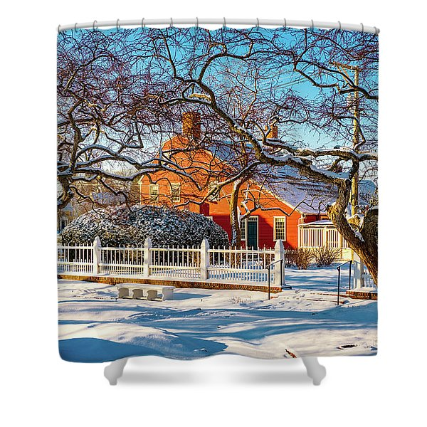 Shower Curtain featuring the photograph Morning Light, Winter Garden. by Jeff Sinon