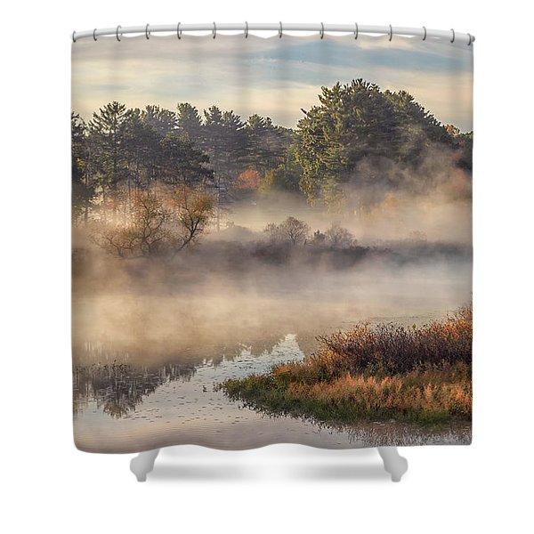 Morning Mist On The Sudbury River Shower Curtain