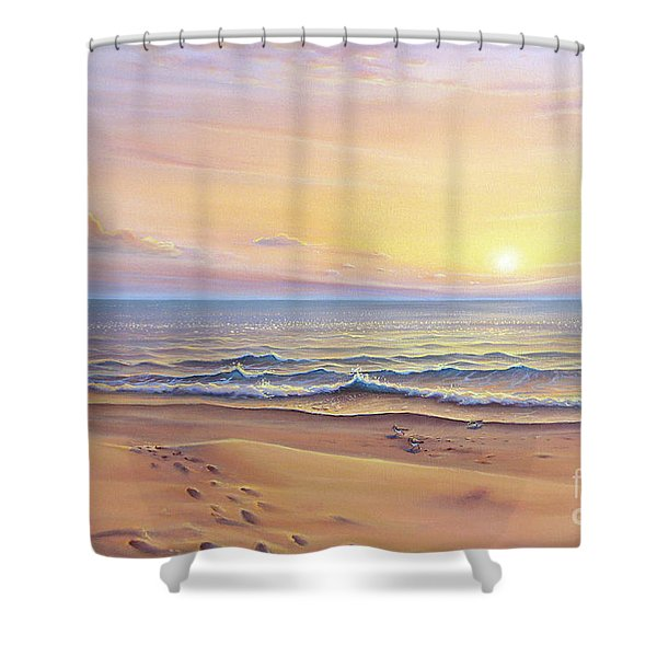Morning Sea Breeze Shower Curtain