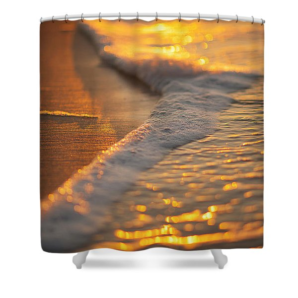 Shower Curtain featuring the photograph Morning Shoreline by Tom Gresham