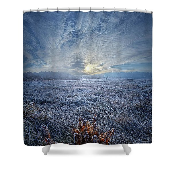 Morning Time Blues Shower Curtain