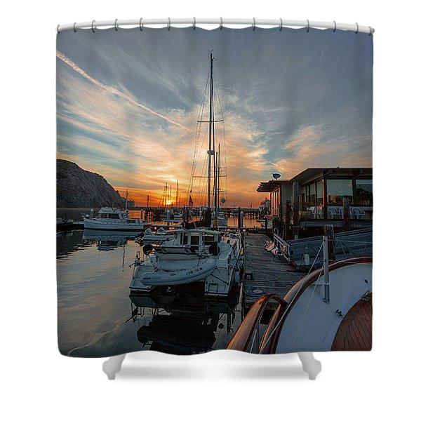 Morro Bay Sunset Shower Curtain