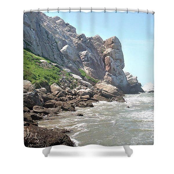 Morro Rock And Ocean Shower Curtain