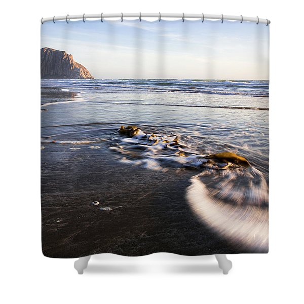 Morro Rock Ebb Tide Shower Curtain