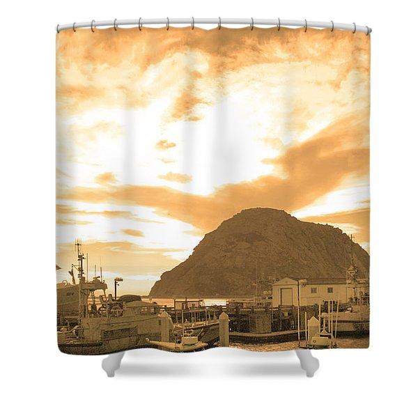 Morro Rock Sky Shower Curtain