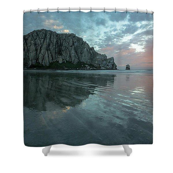 Morro Rock Sunset Shower Curtain