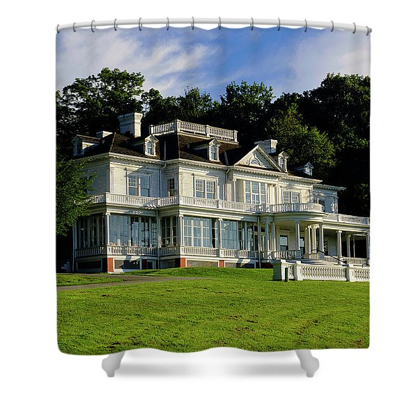 Shower Curtain featuring the photograph Moses Cone Manor by Meta Gatschenberger