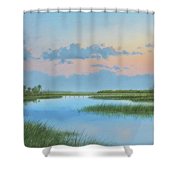 Mosquito Lagoon Shower Curtain