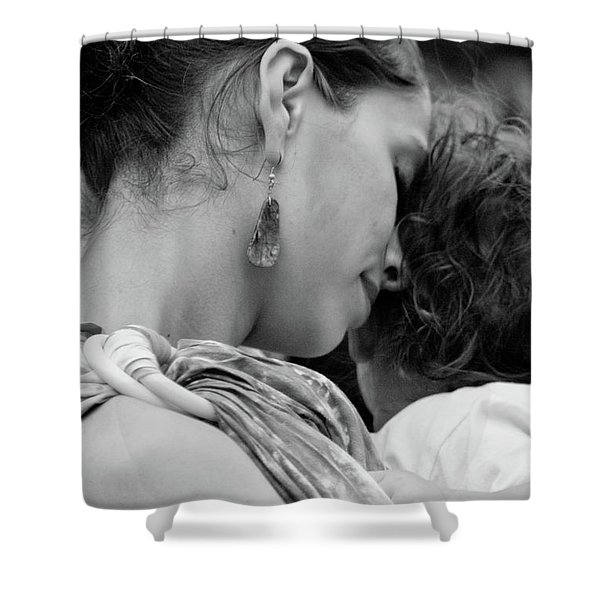Shower Curtain featuring the photograph Mother And Child by Catherine Sobredo