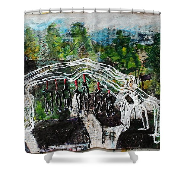 Mother Money Begins To Collapse Shower Curtain